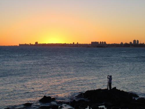 Uruguay Montevideo Fisherman
