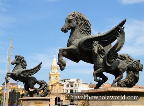 Colombia Cartagena Pegasus Statue