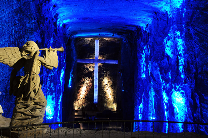 Colombia Zipaquira Salt Cathedral Altar