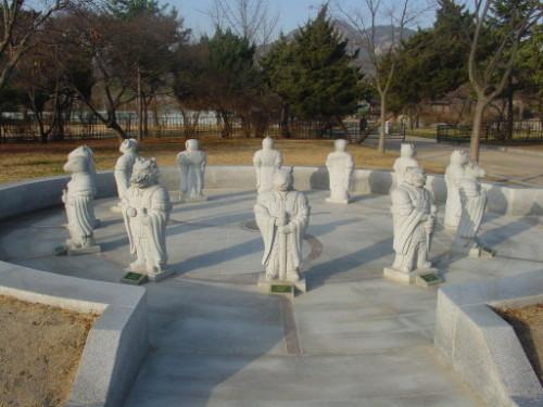 Korea Gyong Palace Animal Statues