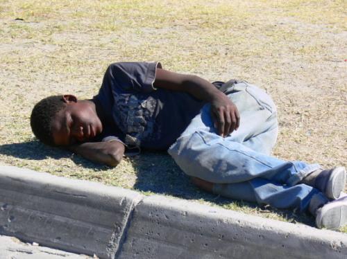 Botswana Passed Out Boy