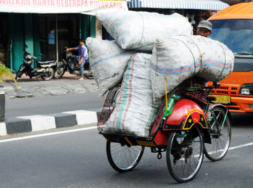 Indonesia Yogjakarta Motorcycle Transport