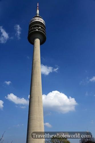 Germany Munich Olympic Park Tower Olympiaturm
