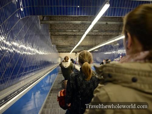 Munich Subway Escalator
