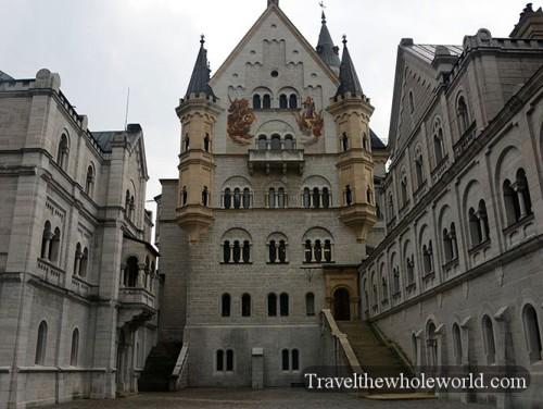 Germany Neuschwanstein Castle Courtyard