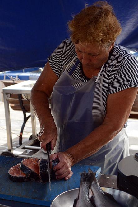 Malta Marsaxlokk Fish Woman