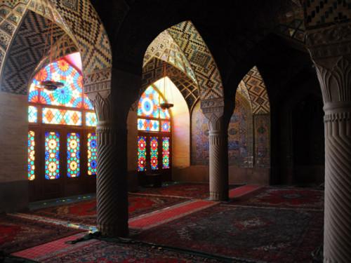 Iran-Shiraz Nasir Al Mulk Mosque Prayer Area