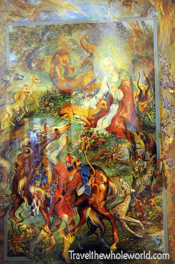 Iran Tehran Art Gallery Persian Miniature Artist