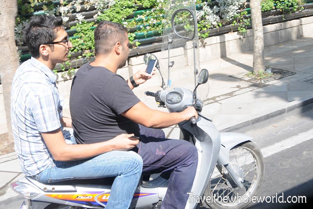 Iran Tehran Motorcycle Text