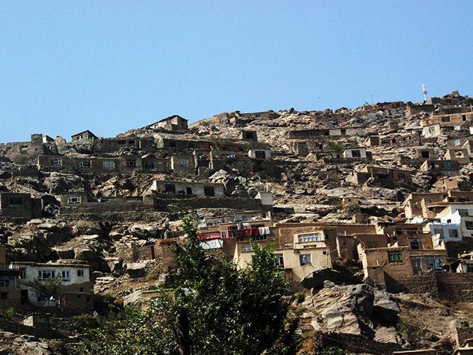 Afghanistan Kabul Hills Suburbs