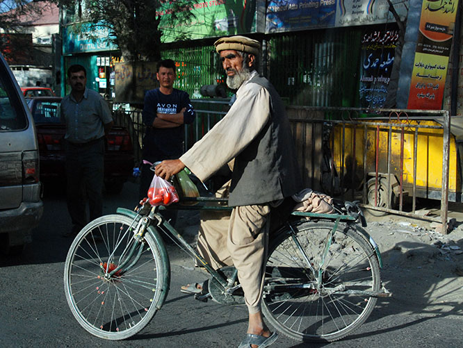Afghanistan Kabul Old Man Bike