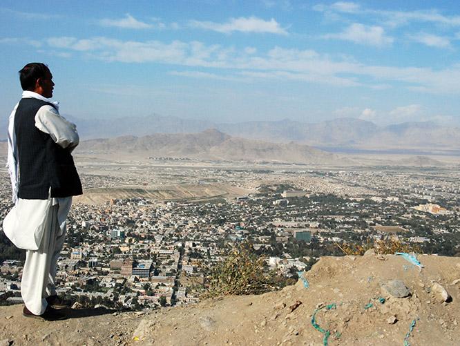 Afghanistan Kabul View Afghan Man