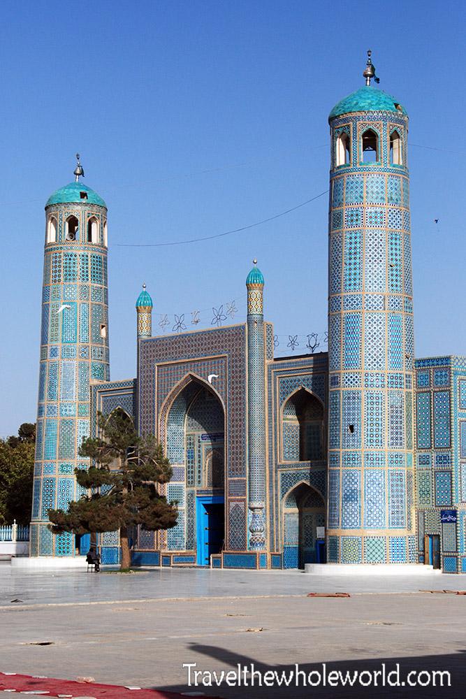 Afghanistan Mazar Sharif Blue Mosque