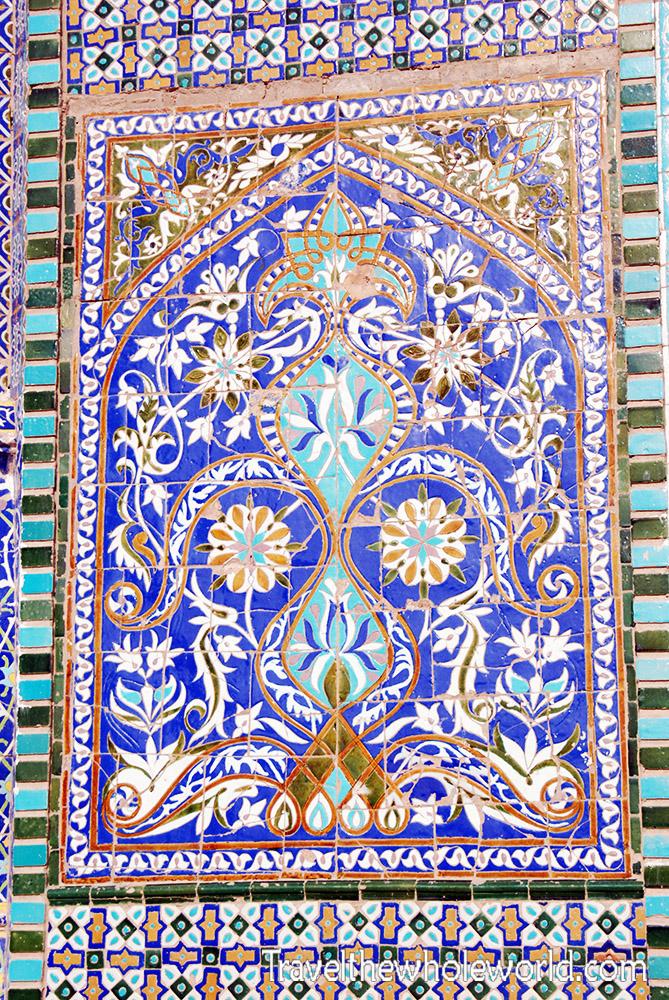 Afghanistan Mazar Sharif Blue Mosque Tiles