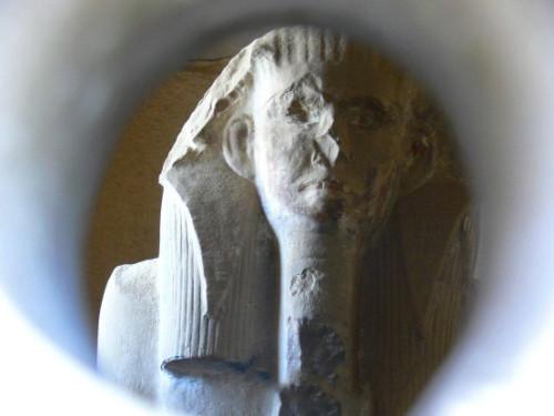 Egypt Statue Eye hole