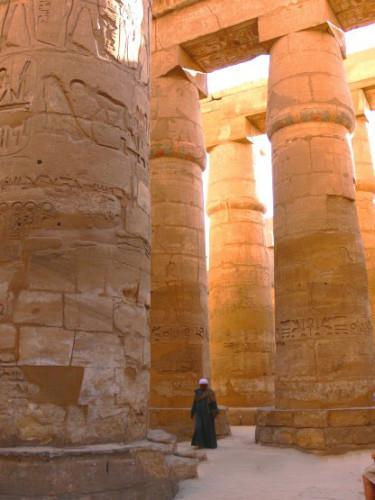 Egypt Temple Column Man