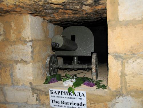 Ukraine Odessa Catacombs Barricade