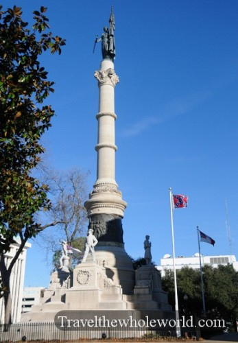 Alabama Montgomery Old Town Capitol Monument