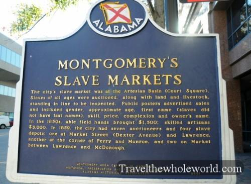 Alabama Montgomery Slave Market