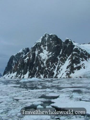 Antarctica Steep Mountain