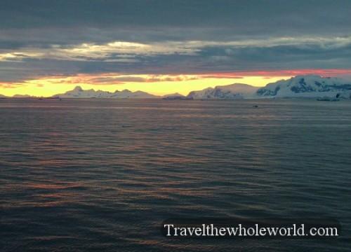 Antarctica Dusk Bay