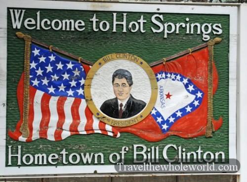 Arkansas Hot Springs Clinton Sign