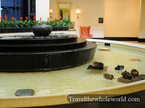 Arkansas Little Rock Peabody Hotel Lobby Ducks