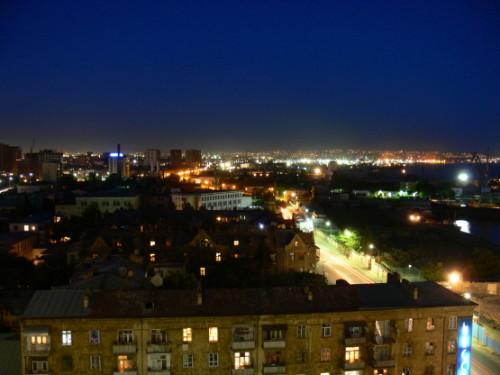 Azerbaijan Baku City Night