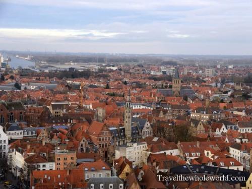 Belgium Bruge Grote Markt Belfry View