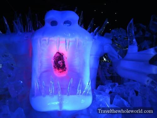 Belgium Bruge Ice Sculpture Festival