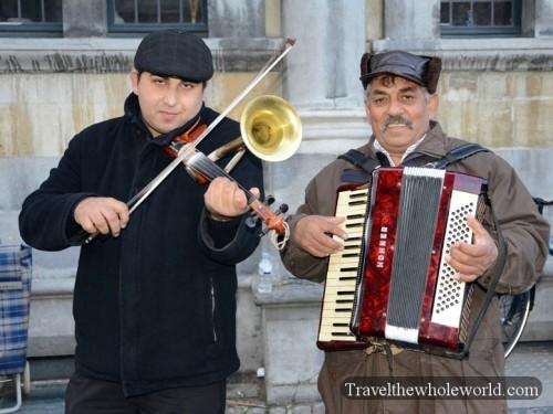 Belgium Bruges Musicians