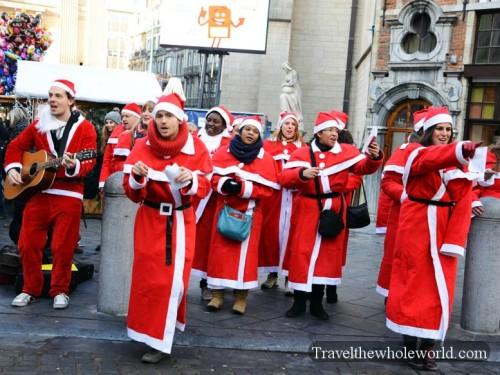 Belgium Brussels Grote Markt Christmas Carols