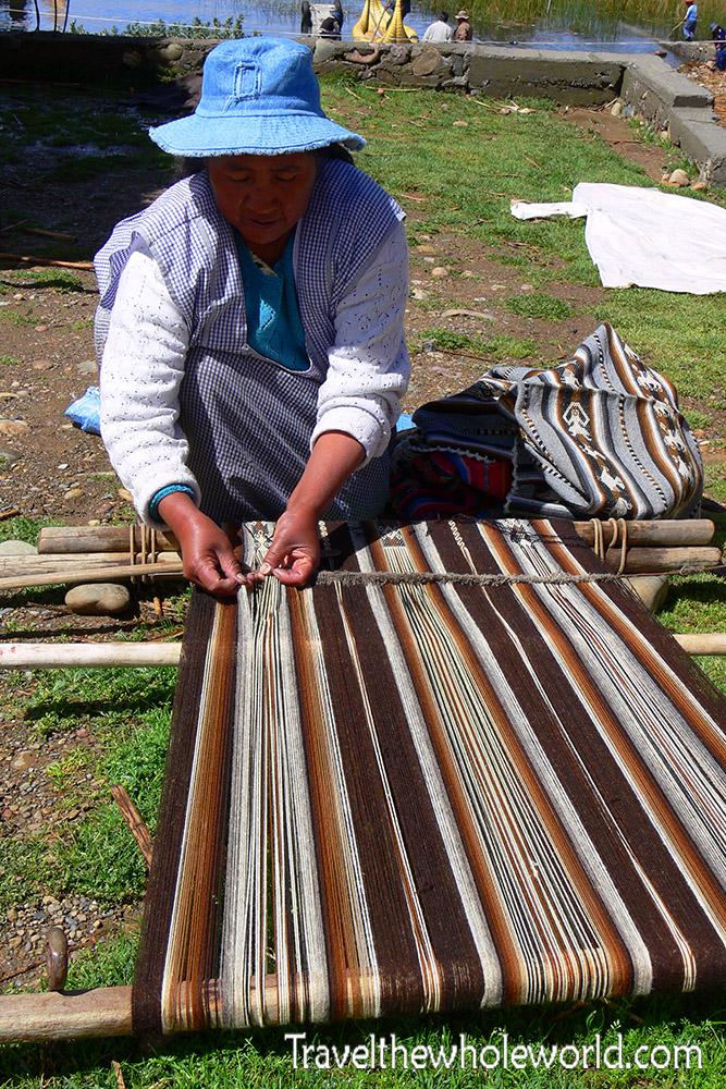 Bolivia Woman Weaving