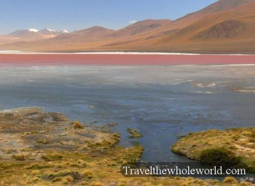 Bolivia Eduardo Abaroa Red Lagoon