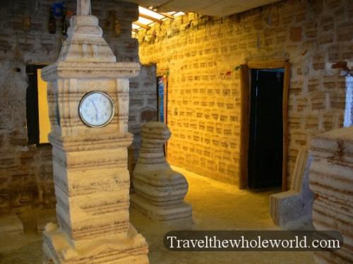 Bolivia Salt Hotel Clock