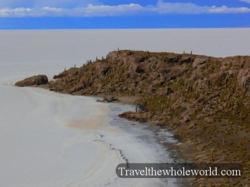 Bolivia Salt Pan Island