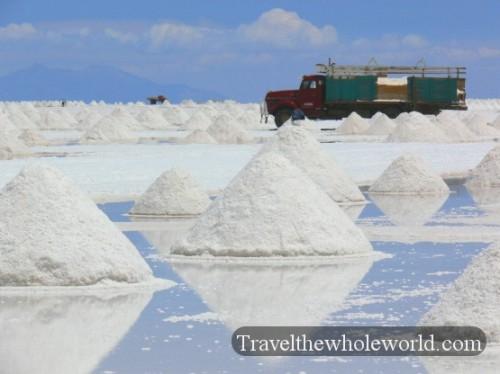 Bolivia Uyuni  Salt Mining