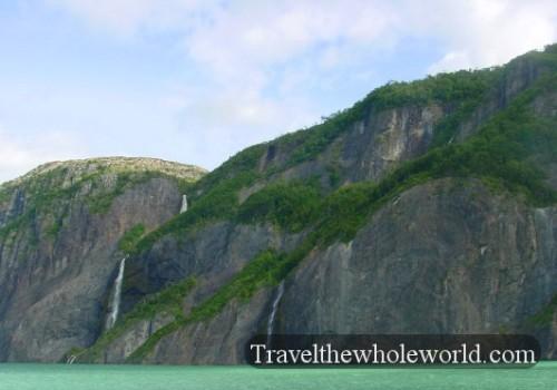Chile Fjord Patagonia Waterfalls