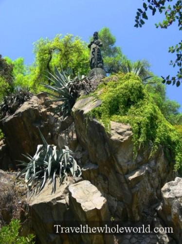 Chile Santiago St Lucia Statue