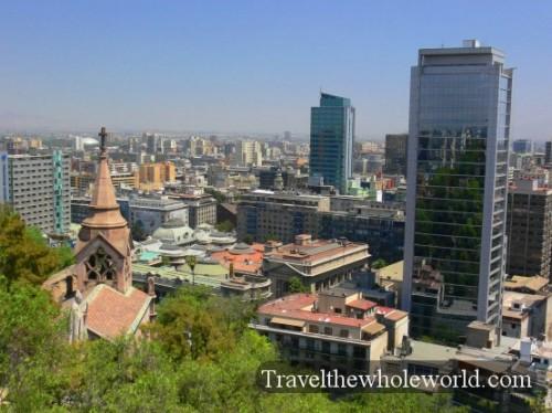Chile Santiago St Lucia View