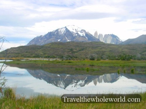 Chile Torres Del Paine Lake Mirror
