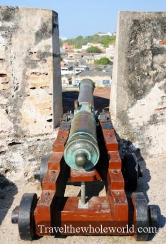 Colombia Cartagena San Felipe Castle Cannons
