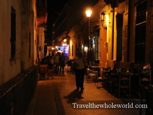 Colombia Santa Marta Alley Night