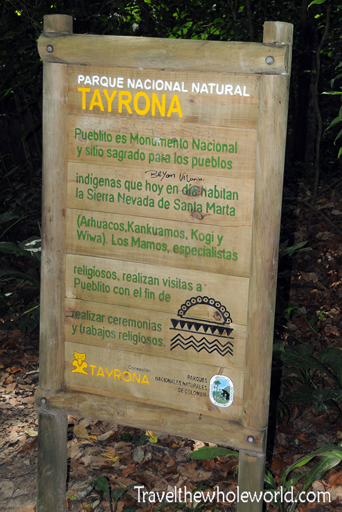 Colombia Tayrona Sign