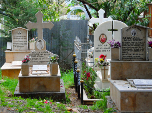Ethiopia Addis Ababa Cathedral Trinity Graves