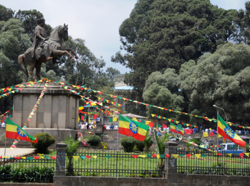Ethiopia Addis Ababa Statue Independence Day