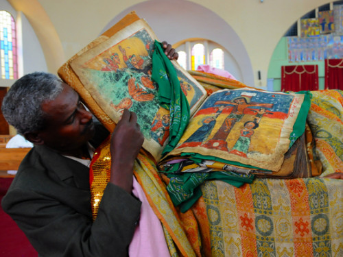 Ethiopia Axum Church Mary Zion Bible