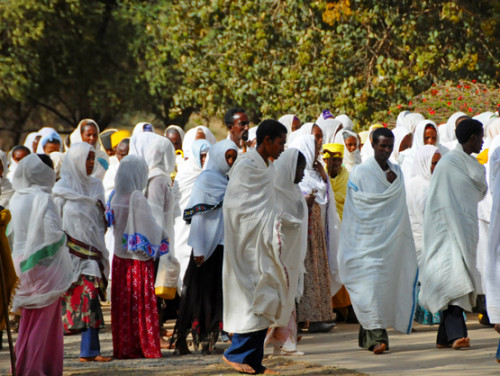 Ethiopia Axum Church of Our Lady Mary of Zion Ceremony