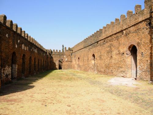 Ethiopia Gondar Castle Courtyard