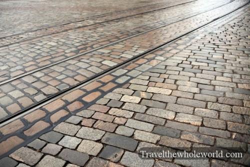 Finland Helsinki Bricked Street